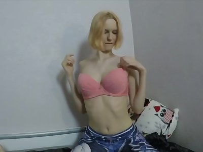 Busty blonde gives a nice blowjob and loving a hot facial