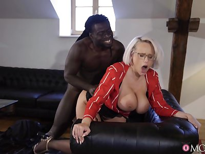 Mature with huge knockers, insane disgraceful porn in doggy scenes