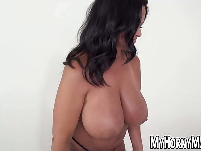 Latina MILF maid Kailani Kai sucks and rides big cock in POV