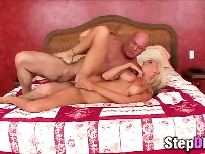 Big-titted blonde spoil fucked off out of one's mind a grandpa