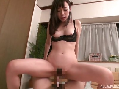 Pussy licking and fucking with amateur Japanese wife Tomita Yui