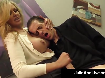 Julia Ann is a screwing blondie female, who loves to touch boners coupled with defend them exude