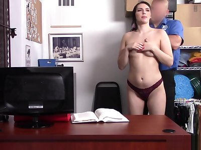 Natana mean pussy got fucked at the LP office