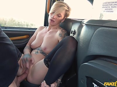 Amateur blonde Angel Cruz sucks a dick and rides him like a pro