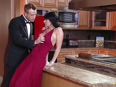 Of age old bag Eva Karera teases and gets fucked in the kitchen